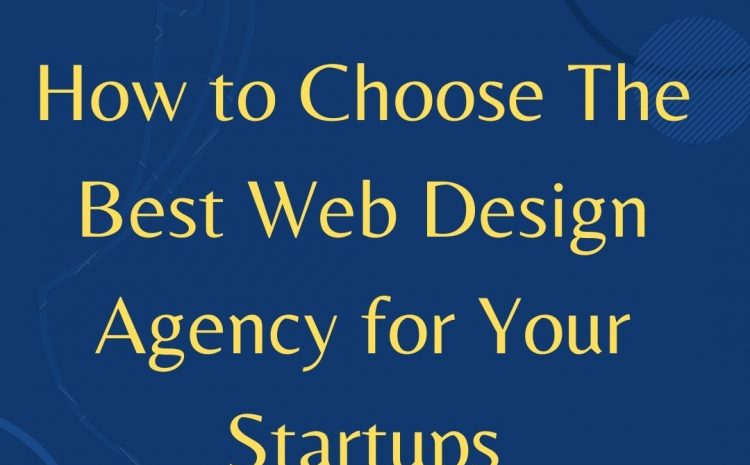 How to Choose The Best Web Design Agency for Your Startups